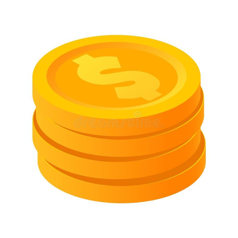 金堆美元在等量样式传染媒介例证铸造 皇族释放例证