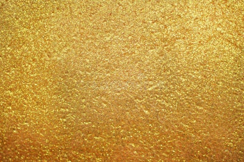 金墙壁纹理背景 库存照片