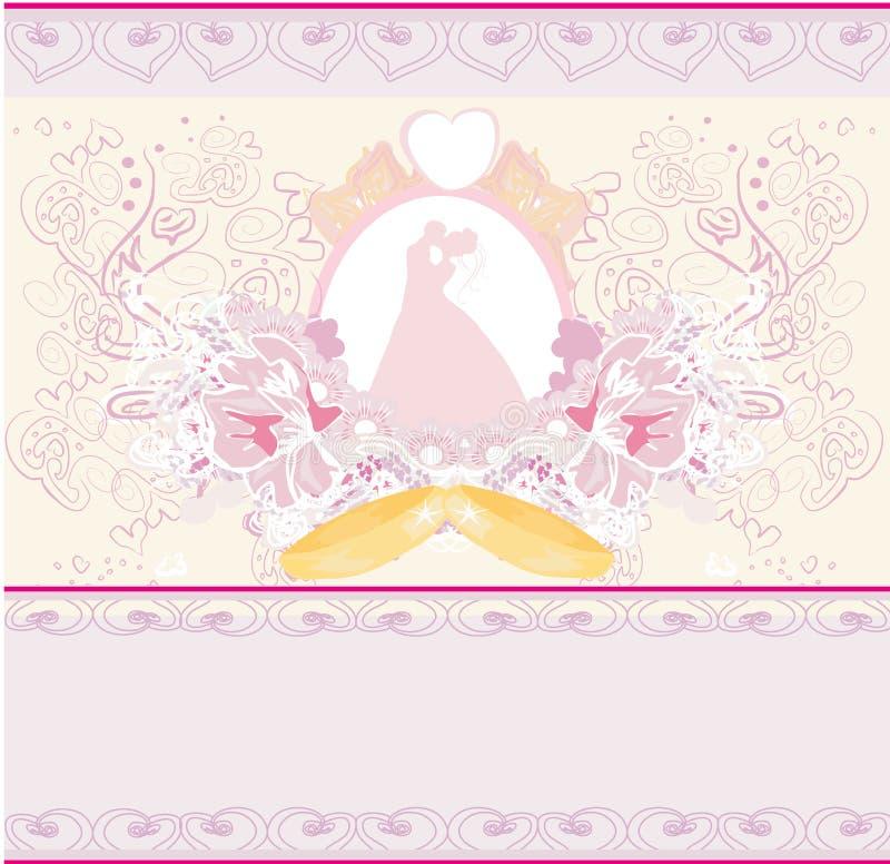 金婚圆环和婚礼夫妇 皇族释放例证