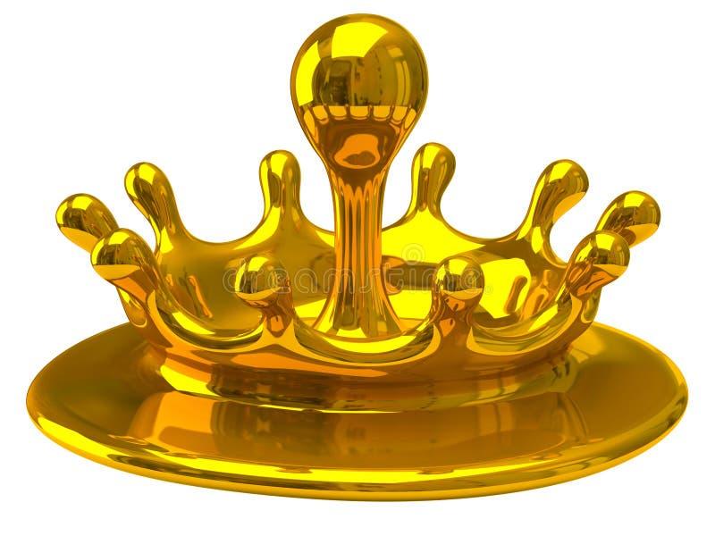 金子下落 向量例证