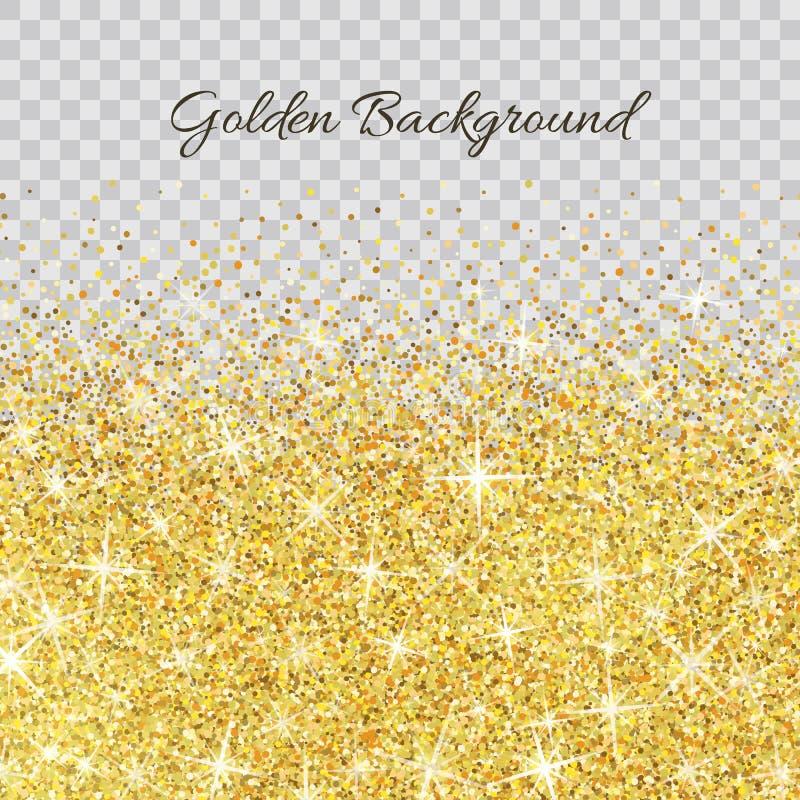 金子与闪闪发光的闪烁纹理 向量例证