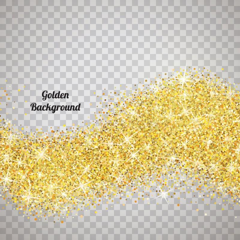 金子与闪闪发光的闪烁纹理 皇族释放例证