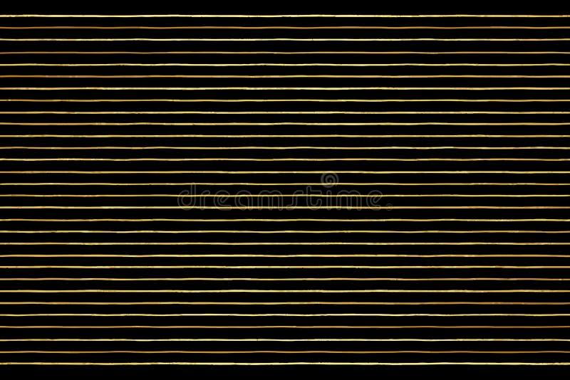 金子传染媒介条纹或细条纹豪华背景 向量例证