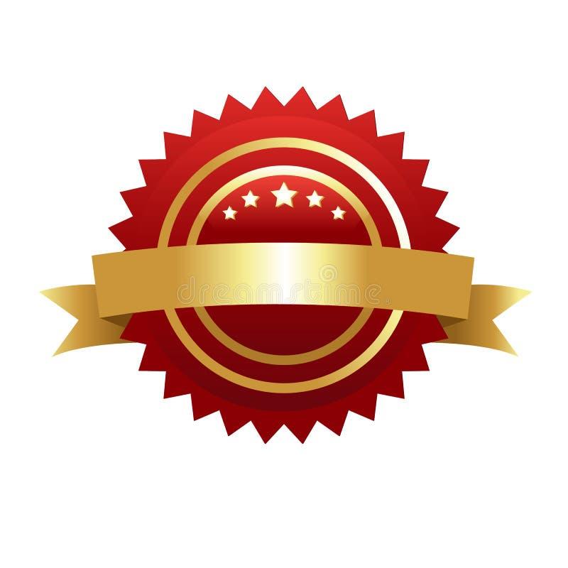 金子保证密封保修单 皇族释放例证