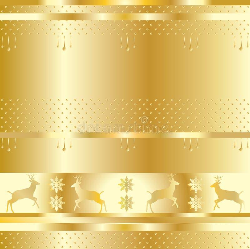 金子假日样式 向量例证