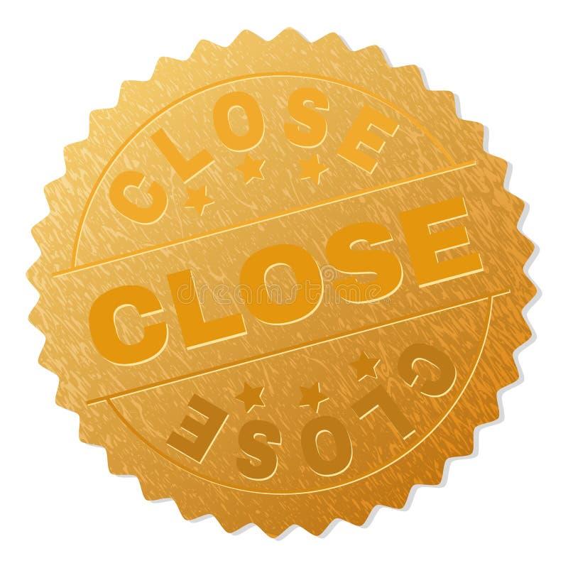 金子关闭奖邮票 向量例证