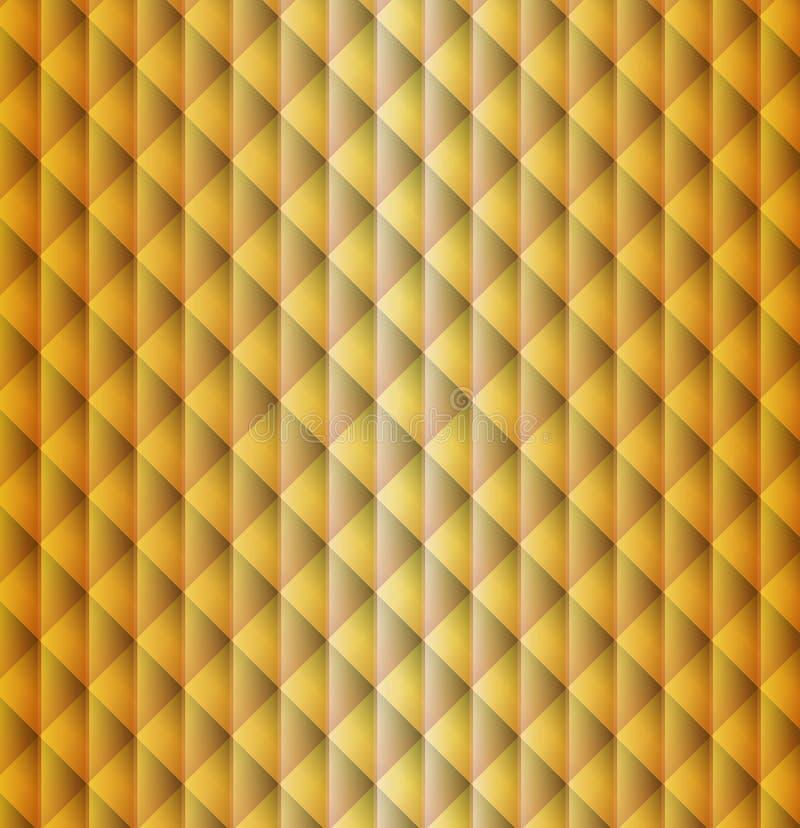 金子几何形状样式菱形背景 皇族释放例证