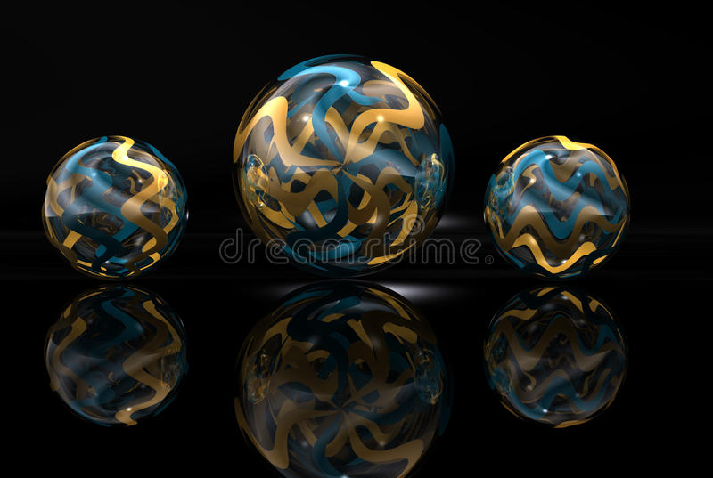 金子和蓝色大理石