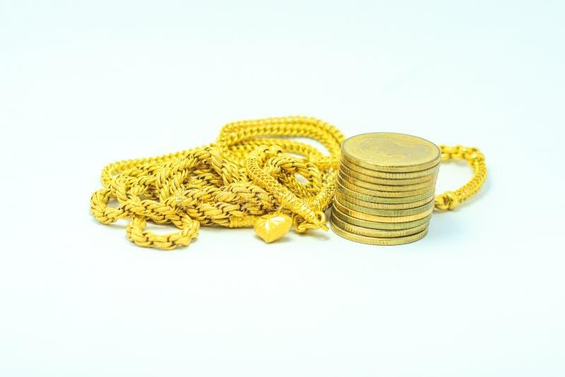 金子和金钱 图库摄影