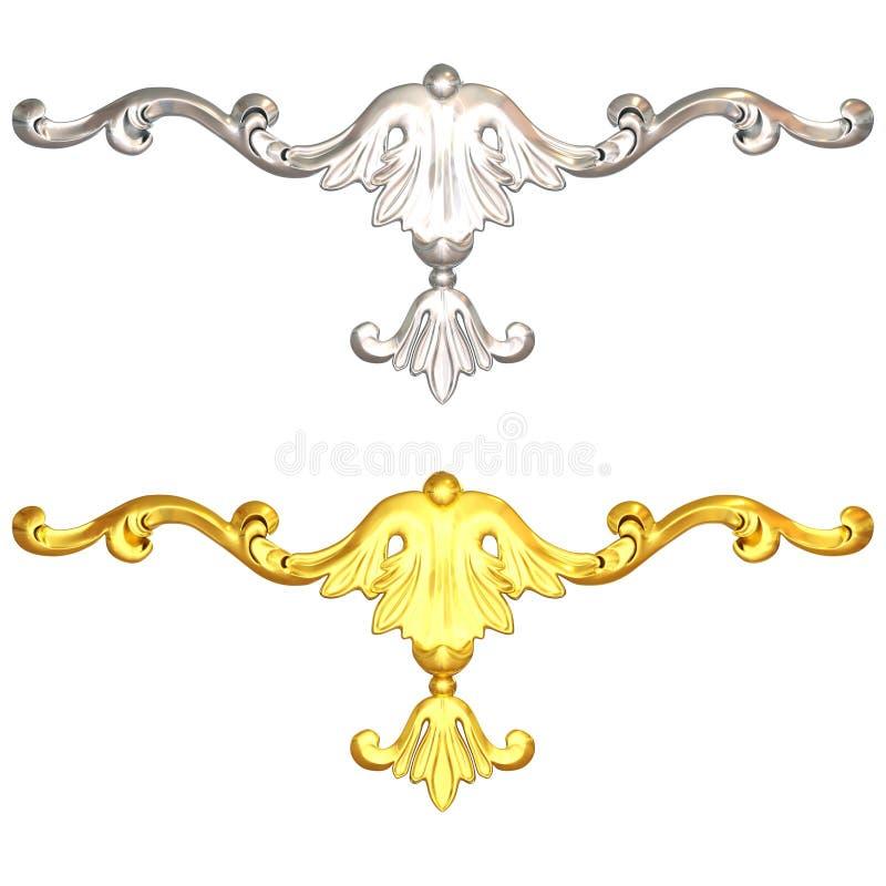 金子和银 向量例证