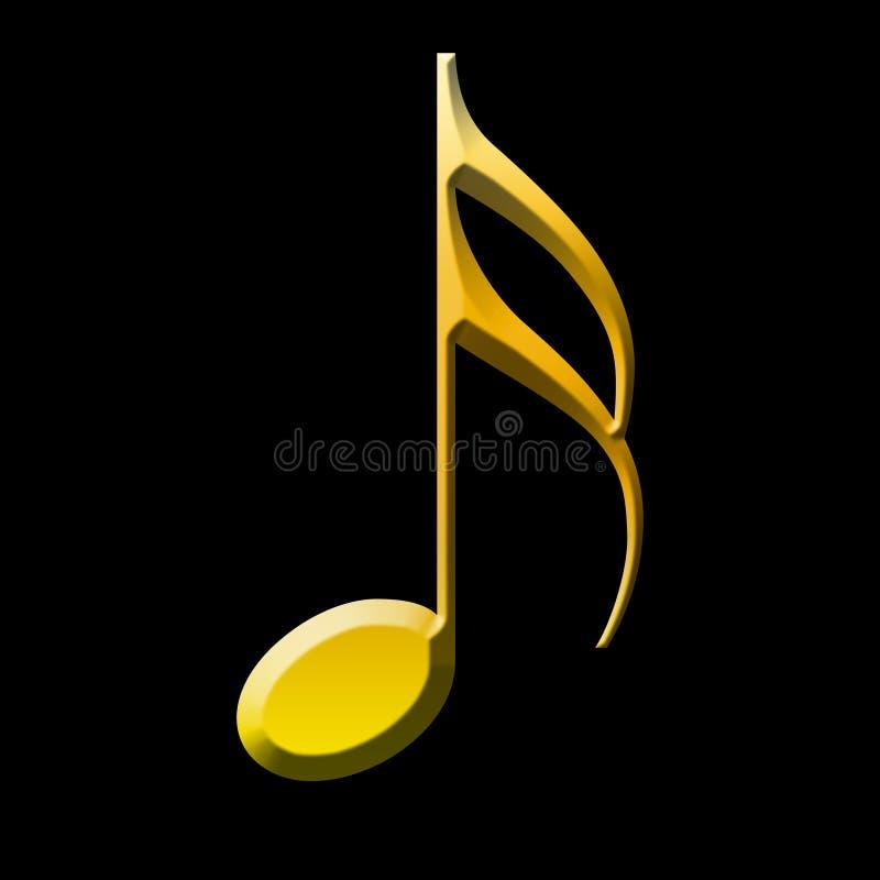 金子商标音乐和歌曲 向量例证