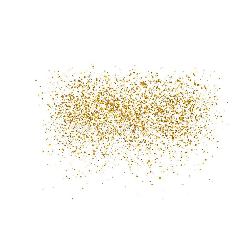 金子在白色背景闪耀 豪华金黄发光的抽象纹理 向量例证, eps 10 向量例证
