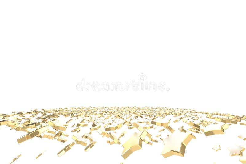 金子或白金担任主角飞行在白色背景 塑造3d例证 财富富有的采矿bitcoin概念与 皇族释放例证