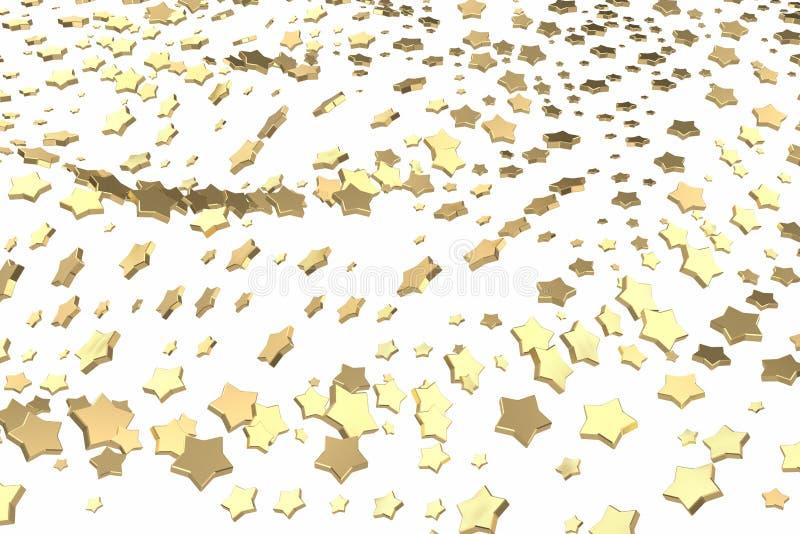 金子或白金担任主角飞行在白色背景 塑造3d例证 财富富有的采矿bitcoin概念 库存例证