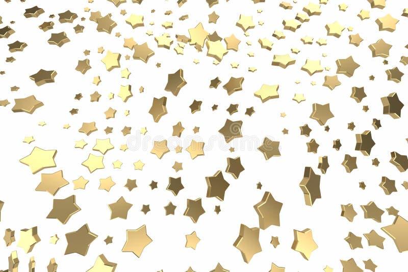 金子或白金担任主角飞行在白色背景 塑造3d例证 财富富有的采矿bitcoin概念 皇族释放例证