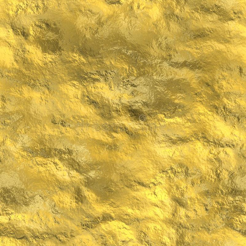 金子无缝的纹理 皇族释放例证