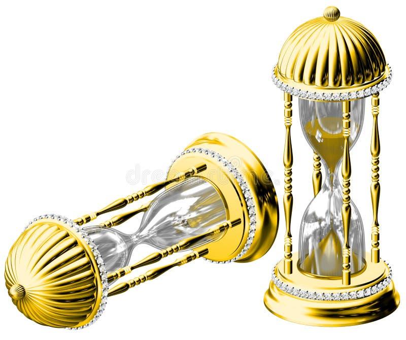 金子时间 库存例证