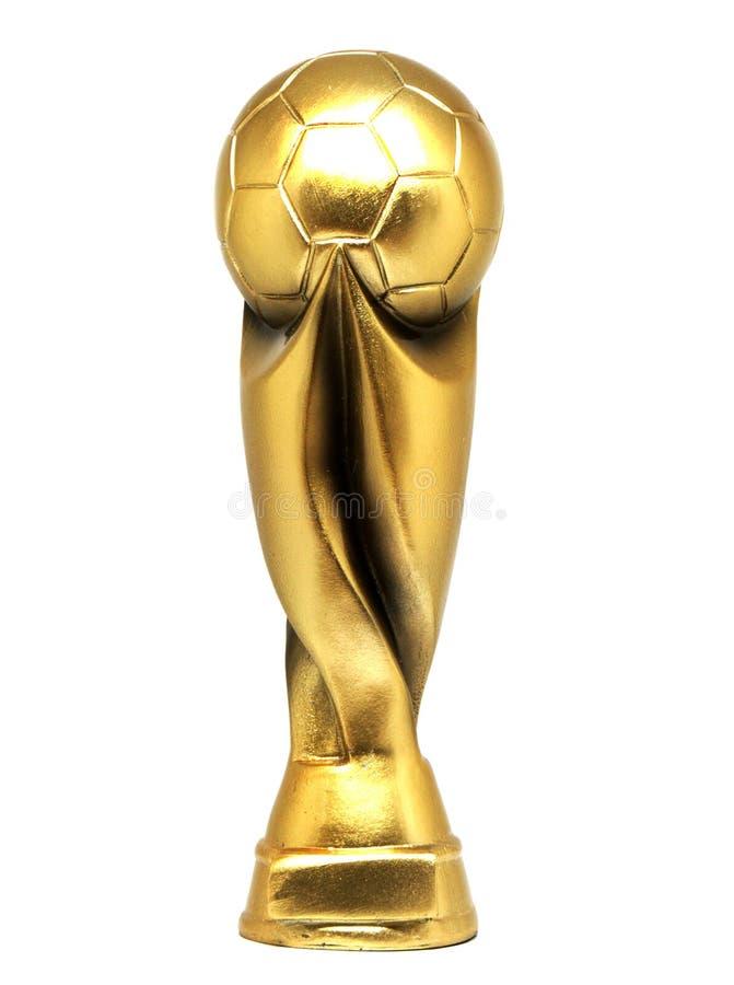 金子橄榄球杯子 免版税库存照片