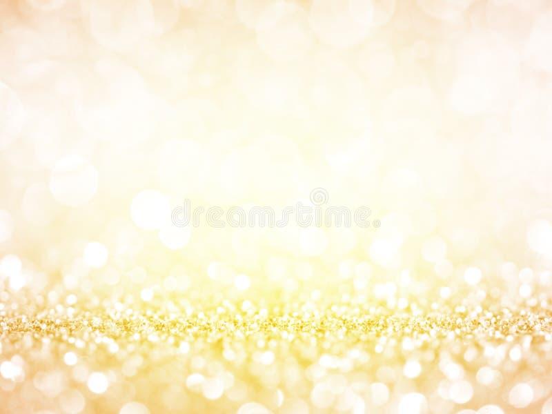 金子欢乐圣诞节背景 图库摄影