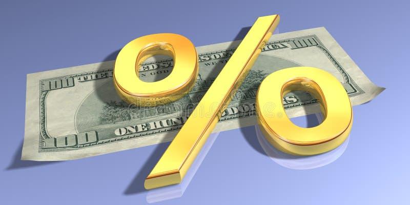 金子百分比 免版税库存照片