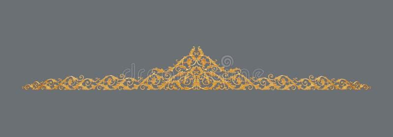 金子的装饰品镀了花卉葡萄酒,维多利亚女王时代的样式 库存图片