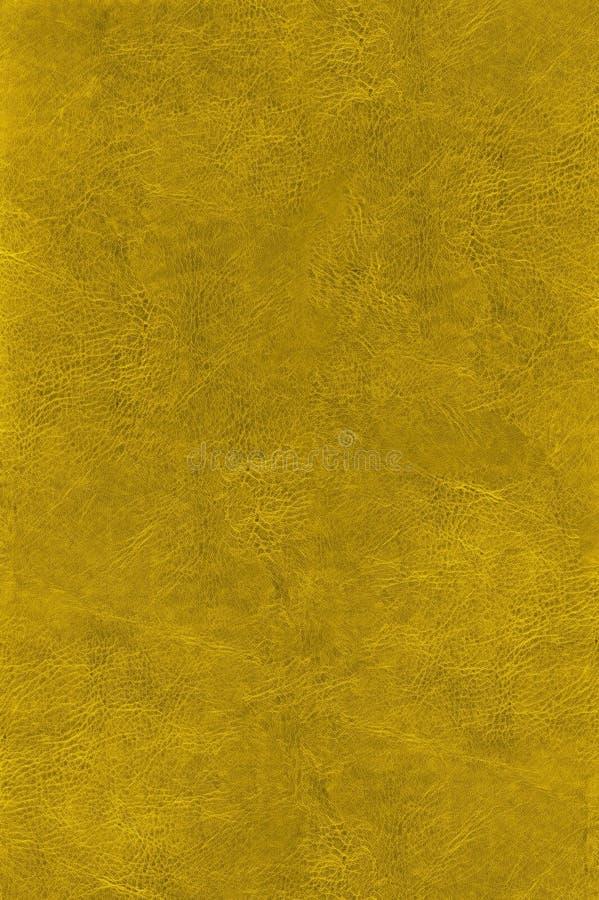 金子皮革自然纹理 免版税库存图片