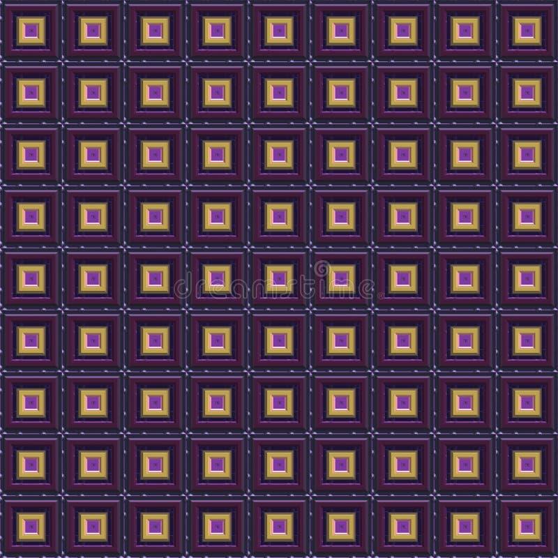 金子紫色无缝的techno 库存照片