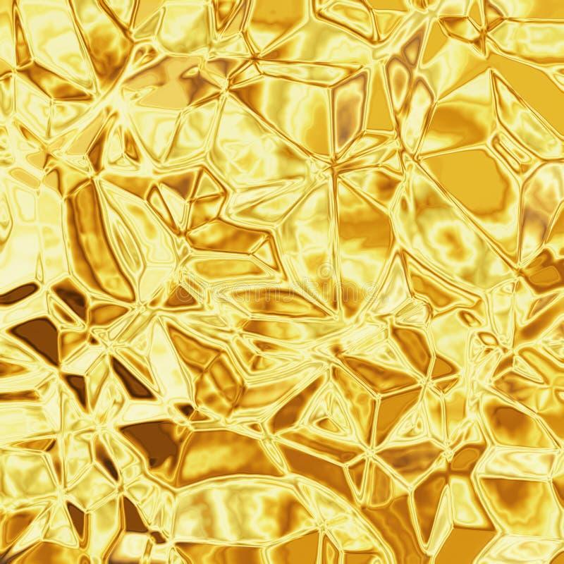 金子纹理 向量例证
