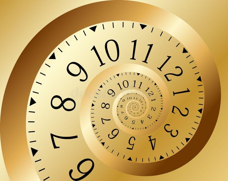 金子螺旋时间向量 皇族释放例证