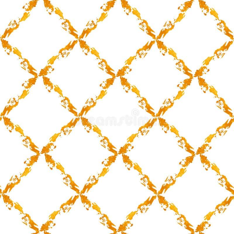 金子被绘的rhombs 皇族释放例证