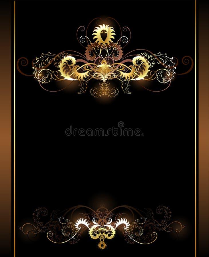 金子装饰图案 库存例证
