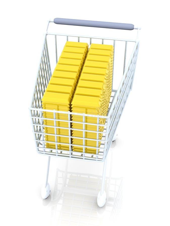 金子购物 向量例证