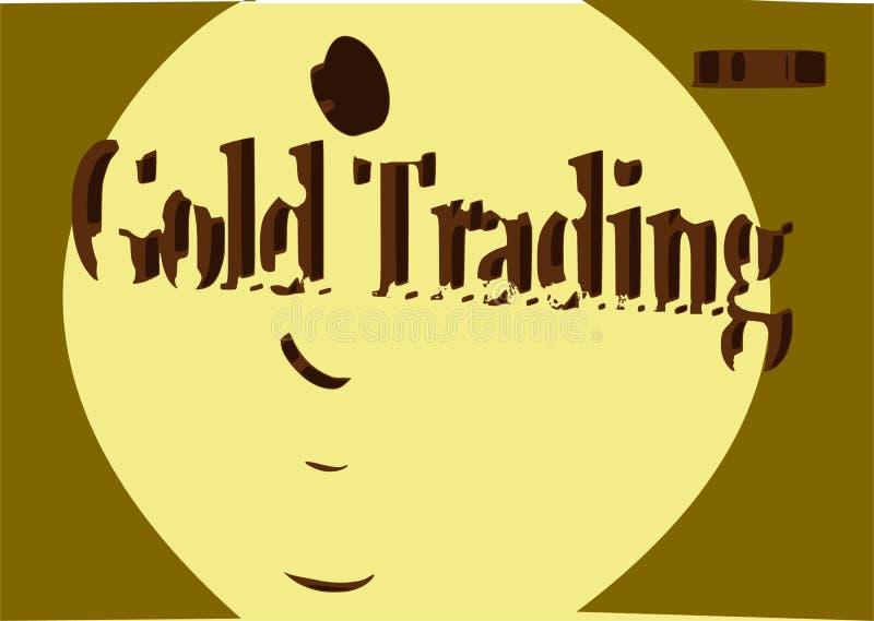金子贸易黑色星期五销售3d翻译 免版税库存照片