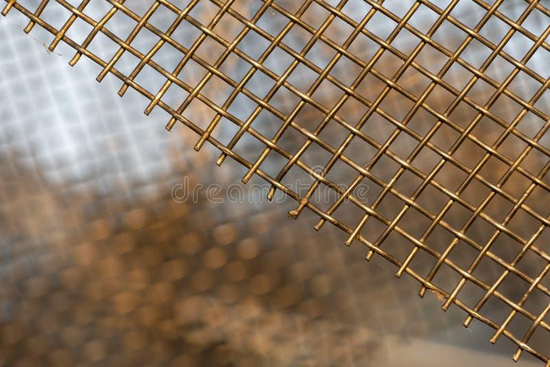 金子金属栅格背景 库存图片