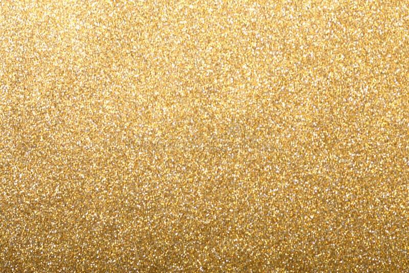 金子银色闪烁背景 免版税库存图片