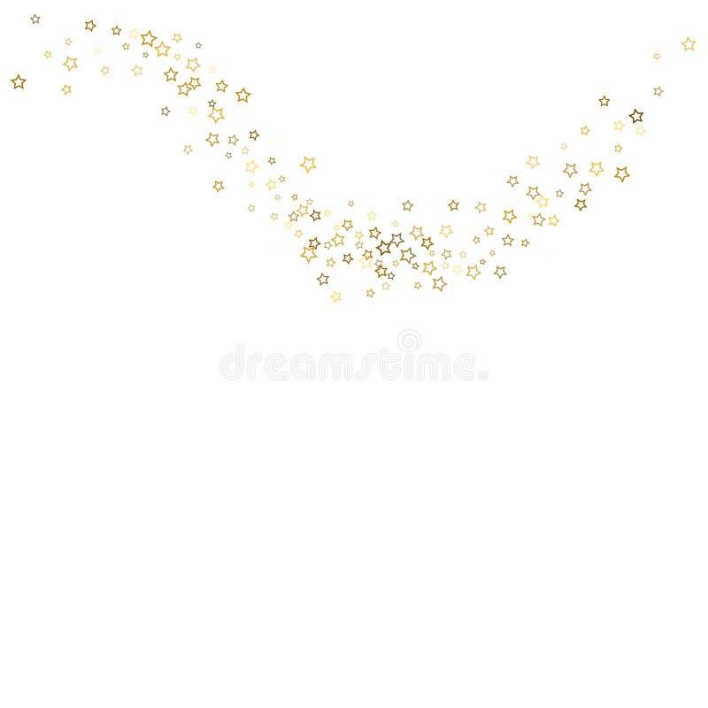 金子闪烁五彩纸屑闪闪发光 库存例证