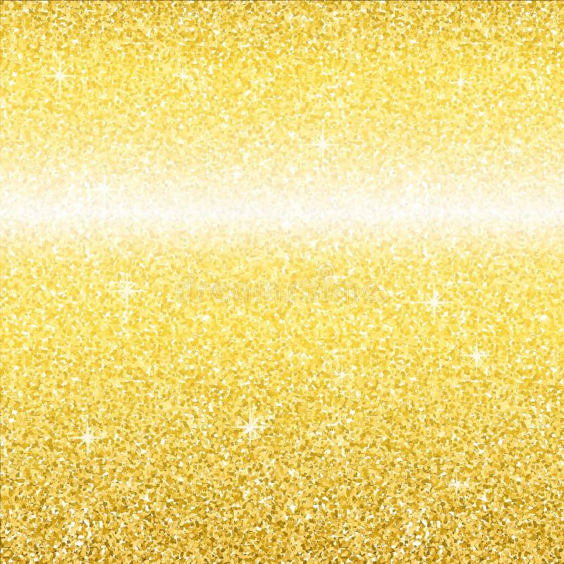 金子闪烁亮光纹理 库存例证
