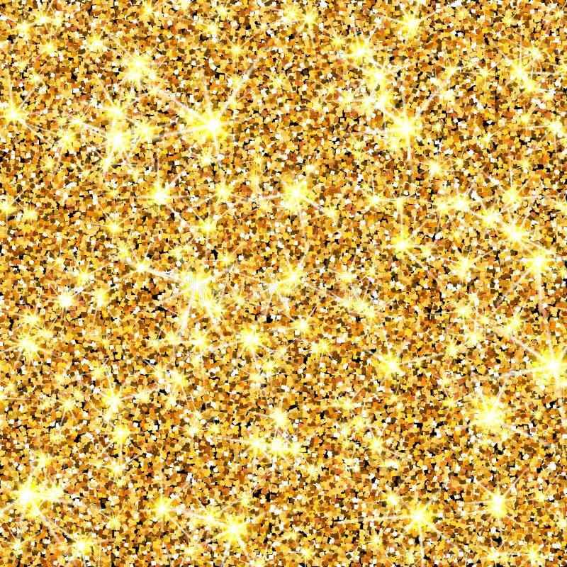 金子闪烁传染媒介纹理 金黄sparcle背景 Luxory背景 琥珀色的微粒 时尚微光样式为 库存例证
