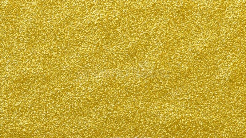 金子闪烁光亮的抽象背景 质感粗糙的金黄闪烁表面 库存例证