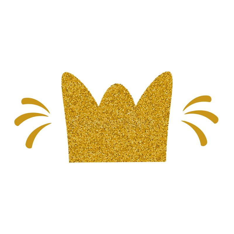 金子闪烁冠 被隔绝的传染媒介剪贴美术 库存例证