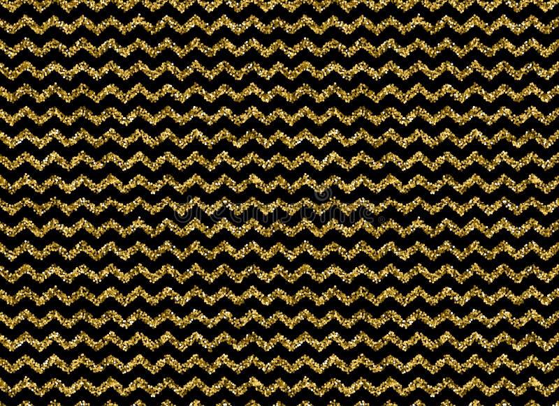 金子闪烁加点Z形图案 向量例证