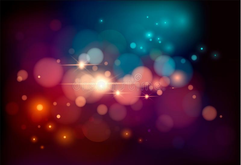 金子闪烁微粒背景影响 闪耀的纹理 星团在黑背景的爆炸发火花 向量Illustratio 向量例证