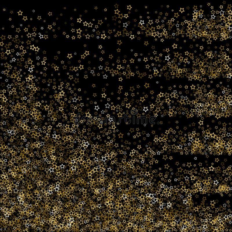 金子闪烁星 豪华发光的五彩纸屑 皇族释放例证