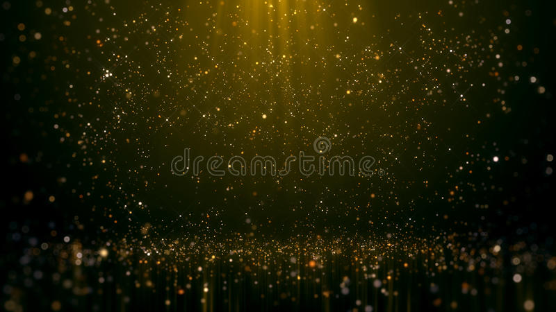 金子闪烁的Bokeh魅力摘要背景 库存图片