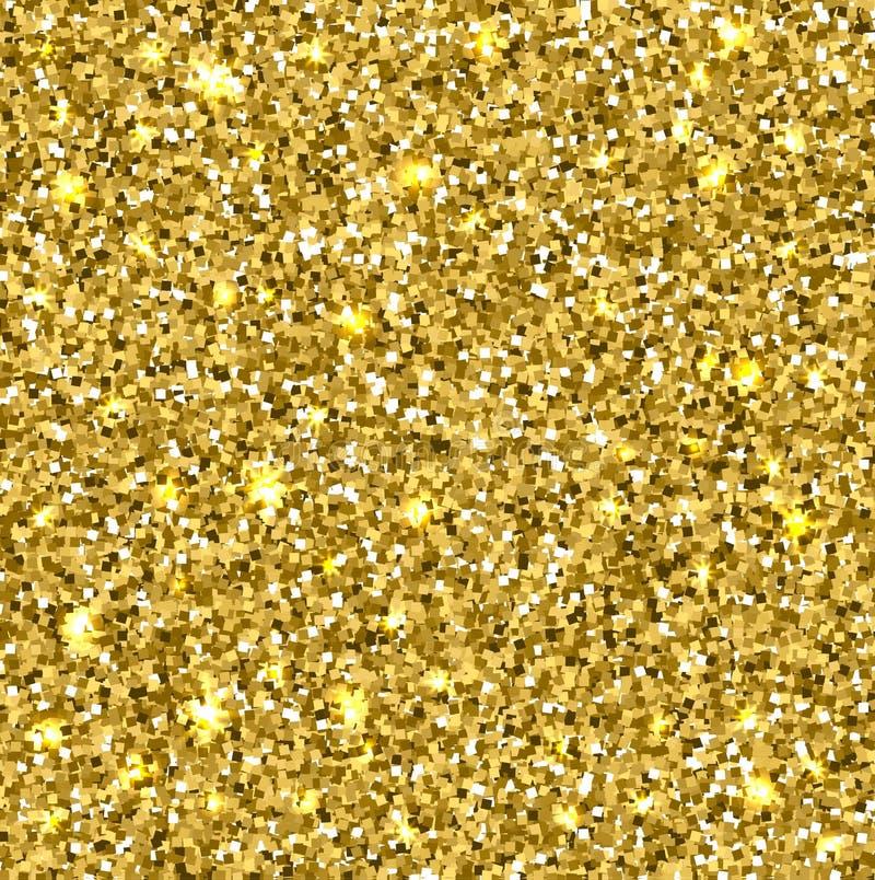 金子闪烁纹理 库存例证