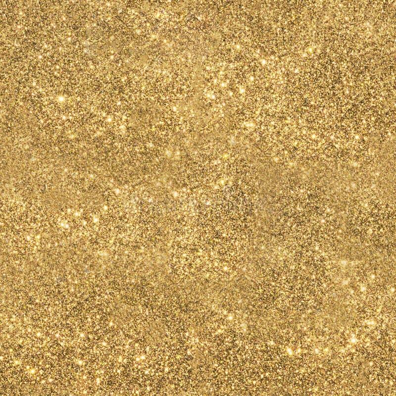 金子闪耀的闪烁无缝的纹理 免版税库存图片