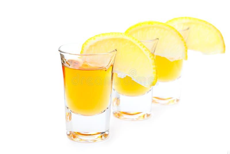 金子龙舌兰酒 库存图片