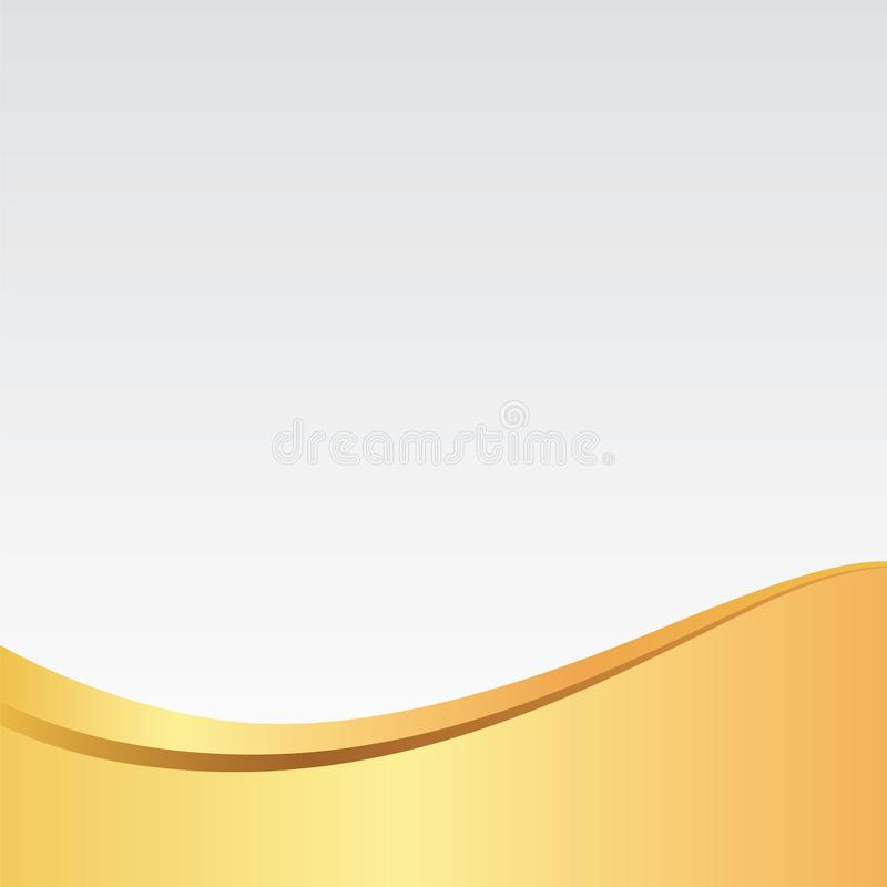 金子/金黄波浪典雅的银色背景/样式卡片、海报、网站或者邀请的 向量例证