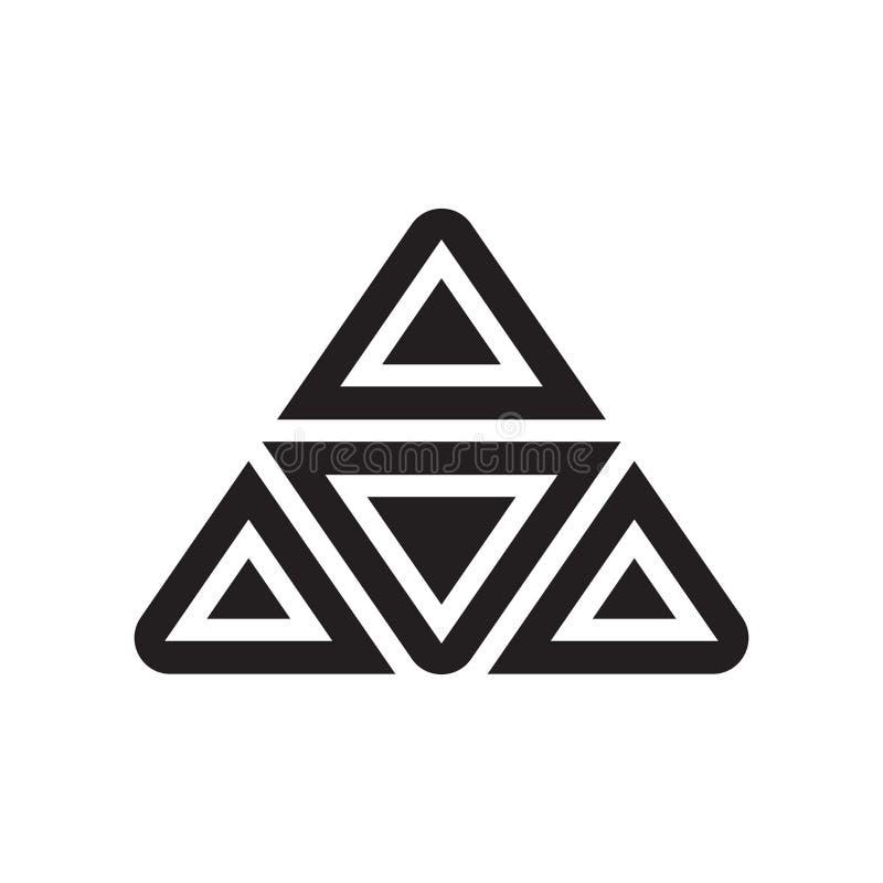 金字塔图象在白色后面和标志隔绝的传染媒介标志 向量例证
