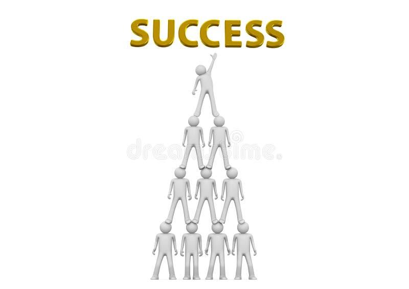金字塔成功 向量例证